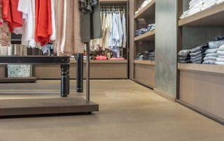 Fugenloser Boden einer Boutique in Kiel